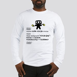 I code like a ninja Long Sleeve T-Shirt