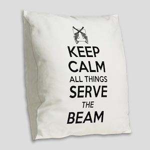 Keep Calm #2 Burlap Throw Pillow