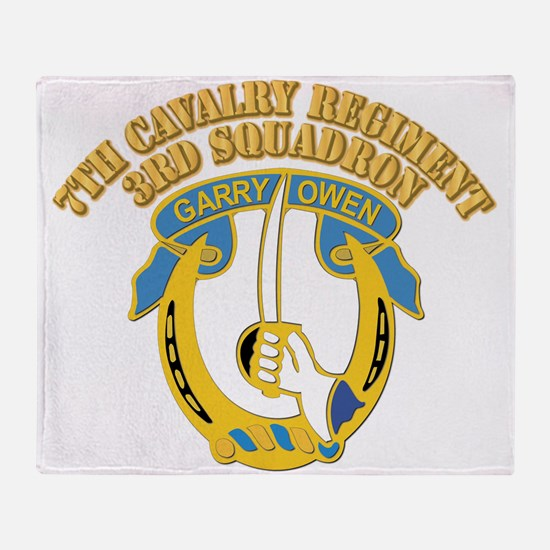 DUI - 7th Cavalry Regiment ,3rd Squadron With Text