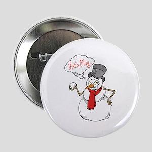 "Let's Play Snowman 2.25"" Button"