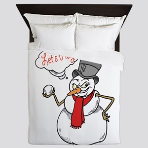 Let's Play Snowman Queen Duvet