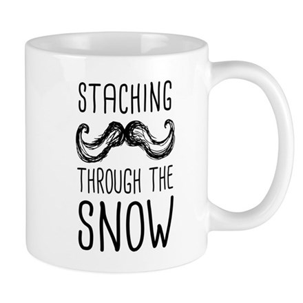 Staching Through the Snow Mugs
