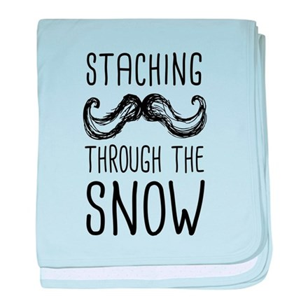 Staching Through the Snow baby blanket