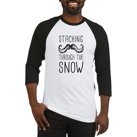 Staching Through the Snow Baseball Jersey