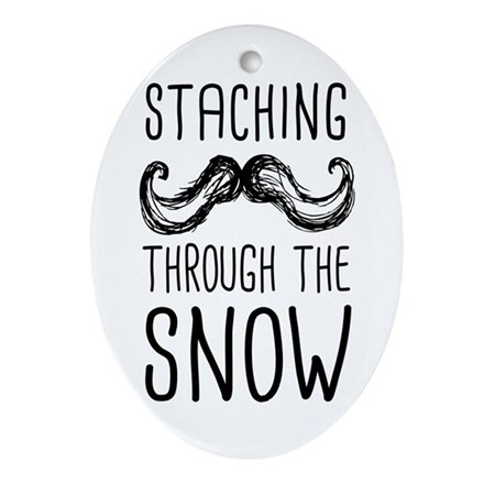 Staching Through the Snow Ornament (Oval)