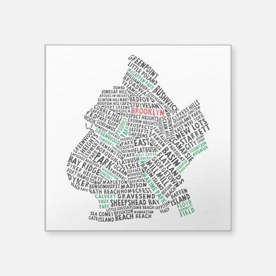 Brooklyn NYC Typography Art Sticker