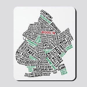 Brooklyn NYC Typography Art Mousepad