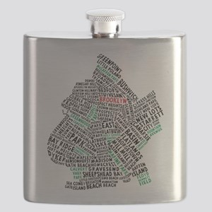 Brooklyn NYC Typography Art Flask