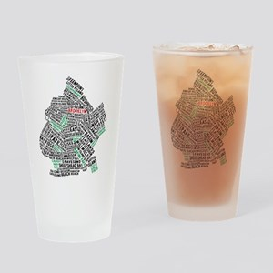 Brooklyn NYC Typography Art Drinking Glass