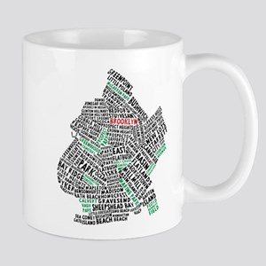 Brooklyn NYC Typography Art Mugs