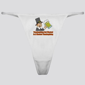 Thanksgiving Not Wasted Classic Thong