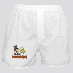 Thanksgiving Not Wasted Boxer Shorts