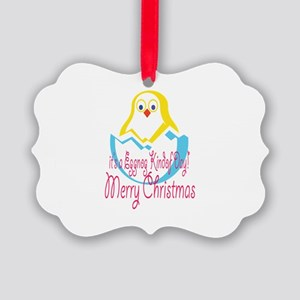 It'a An Eggnog Kindof day Chic Picture Ornament