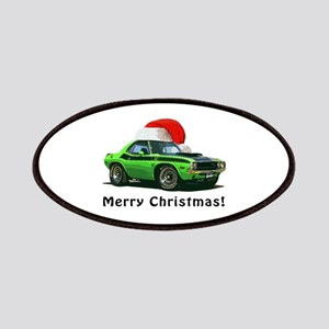 BabyAmericanMuscleCar_70_chal_xmas-green Patches