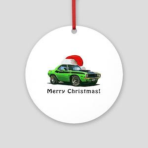 BabyAmericanMuscleCar_70_chal_xmas-green Ornament
