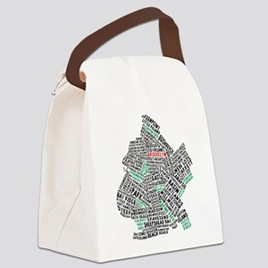 Brooklyn NYC Typography Art Canvas Lunch Bag