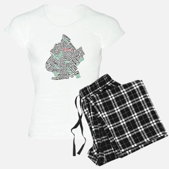 Brooklyn NYC Typography Art Pajamas