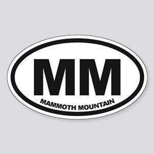 Mammoth Mtn Sticker (Oval)