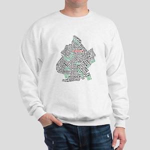 Brooklyn NYC Typography Art Sweatshirt
