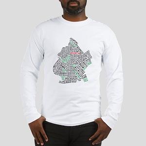 Brooklyn NYC Typography Art Long Sleeve T-Shirt