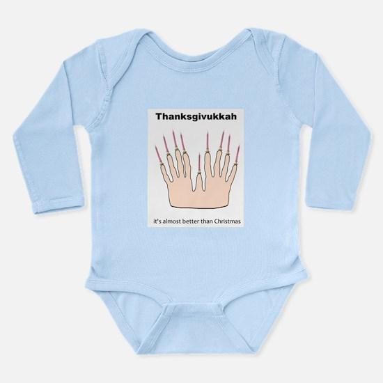 Cute Thanksgivukkah Long Sleeve Infant Bodysuit
