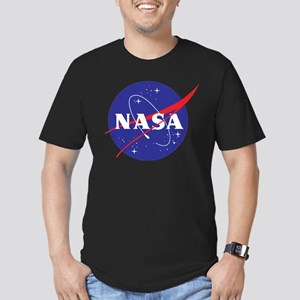 NASA Logo Men's Fitted T-Shirt (dark)
