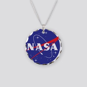 NASA Logo Necklace Circle Charm