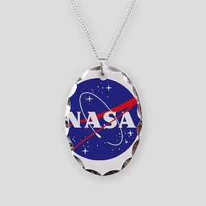NASA Logo Necklace Oval Charm