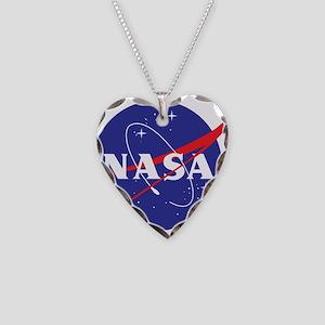 NASA Logo Necklace Heart Charm