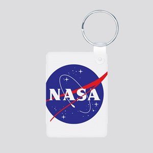 NASA Logo Aluminum Photo Keychain