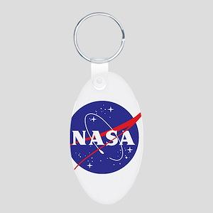 NASA Logo Aluminum Oval Keychain