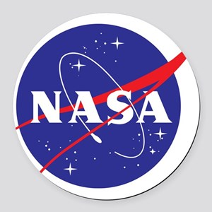 NASA Logo Round Car Magnet