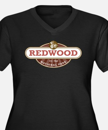 Redwood National Park Plus Size T-Shirt