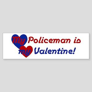 Police Valentine Bumper Sticker