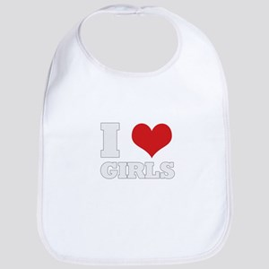 i love girls Bib