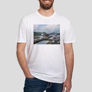 Panama: Miraflores Locks at t Fitted T-Shirt
