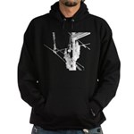 Hot stick in white for dark colored items Hoodie
