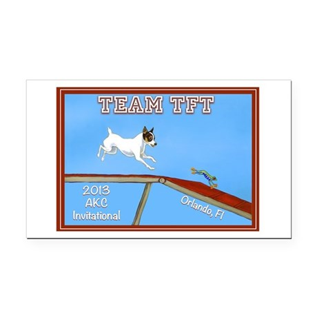 2013 Team TFT Logo Rectangle Car Magnet