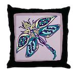 Mauve Dragonfly Throw Pillow