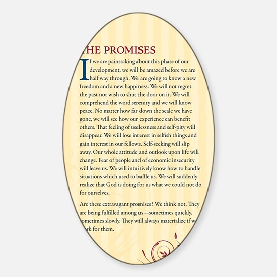The Promises Sticker (Oval)