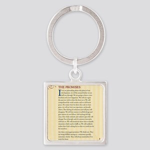 The Promises Square Keychain