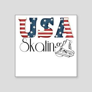 """usa skater Square Sticker 3"""" x 3"""""""
