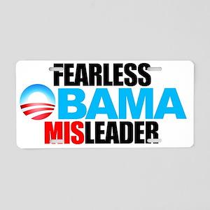 2-FEARLESS-MISLEADER-LOGO-S Aluminum License Plate