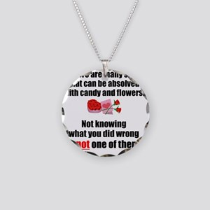 Candy  Flowers Necklace Circle Charm