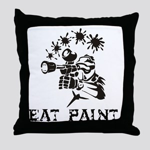 eat paint Throw Pillow