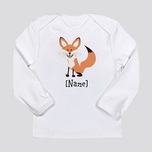 Personalized Fox Long Sleeve Infant T-Shirt