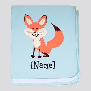 Personalized Fox baby blanket