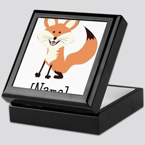 Personalized Fox Keepsake Box