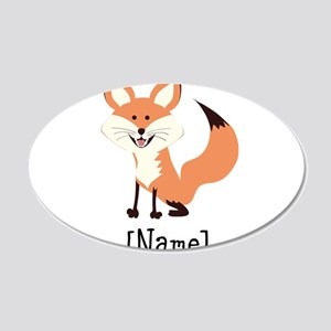 Personalized Fox 20x12 Oval Wall Decal