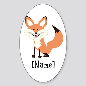 Personalized Fox Sticker (Oval)